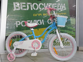 "Велосипед RoyalBaby 12"" STAR GIRL OFFICIAL UA блакитний глянцевий RB12G"