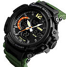 Спортивные мужские часы SKMEI Halk 1343  black / army green / khaki, фото 8
