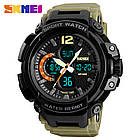Спортивные мужские часы SKMEI Halk 1343  black / army green / khaki, фото 9