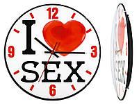 Часы настенные Montre I love sex Большое сердце 30х30х5 см Стекло Тихий ход (19047)