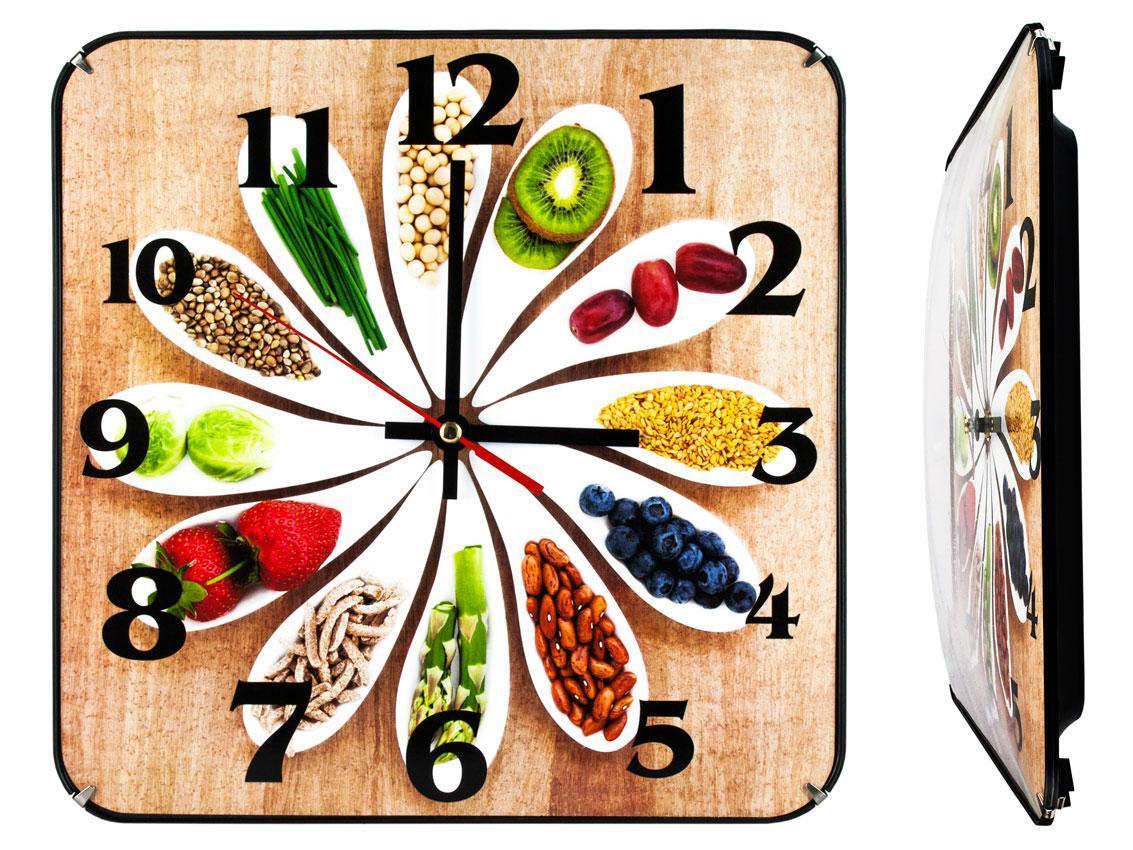 Часы настенные Montre Кухня гурмана 30х30х5 см Стекло Тихий ход (21602)