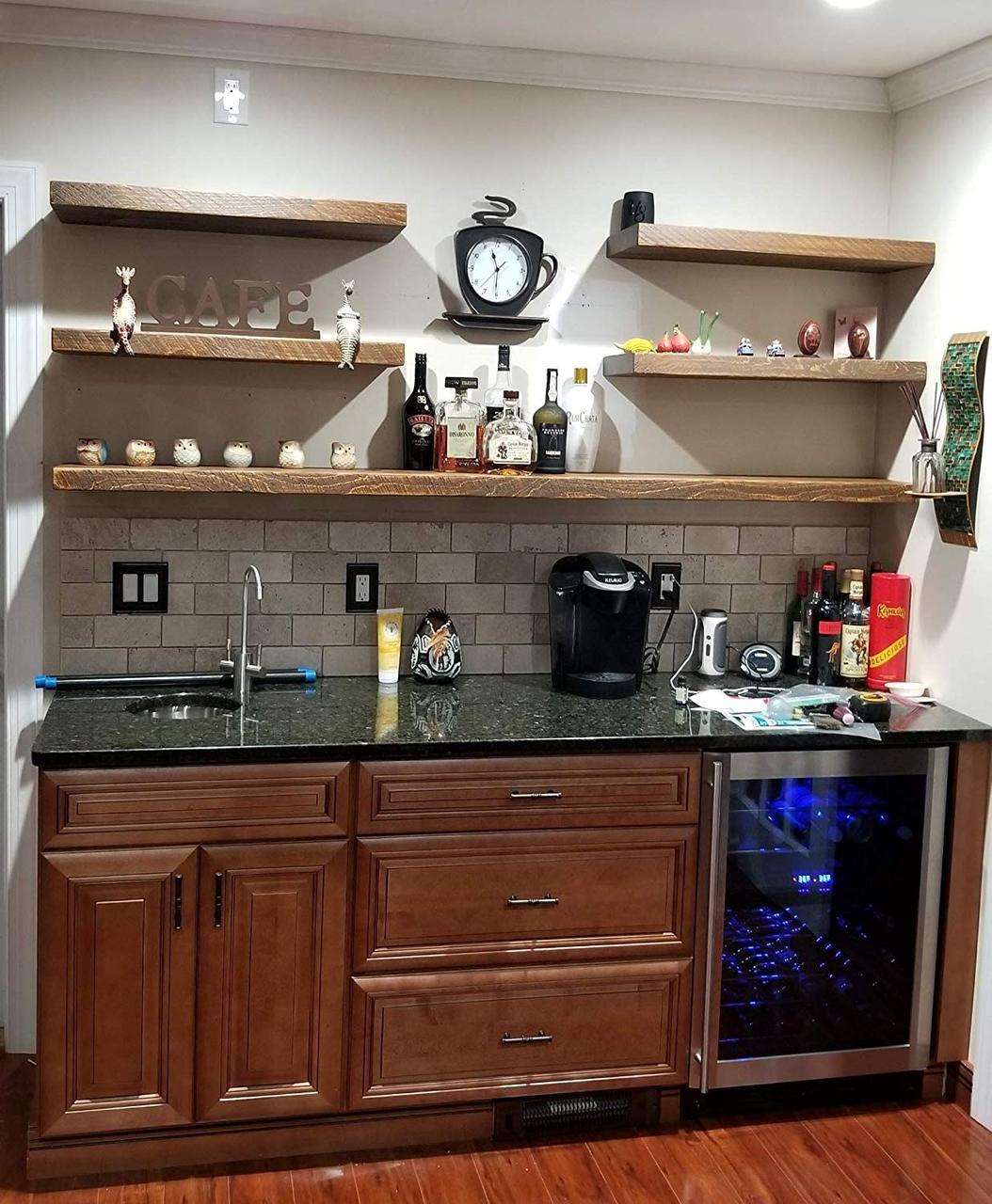 Кухонные полки на стену из чистого дерева от Erti-M