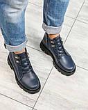 Демисезонные ботинки женские на шнуровке синие, фото 4