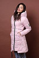 Зимняя женская молодежная куртка. Код К-80-36-20. Цвет пудра.