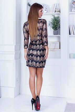 Платье пайетка 74316, фото 2