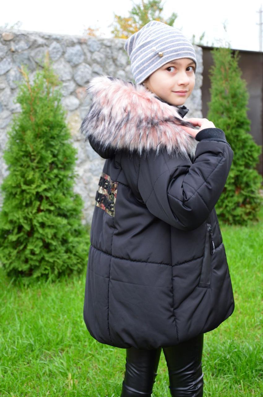 """Зимняя куртка для девочки  подростка (122,128, 134, 140, 152, 158) """"Элли"""""""