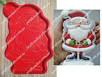 """Набор """"Санта с усами"""" - пластиковая вырубка  + трафарет, 12см"""