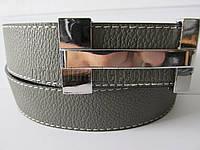 """Ремень мужской джинсовый гвоздик серый (кож.зам, 25 мм.) №C69220  """"Remen"""" LM-638"""