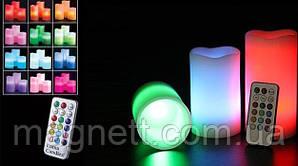 """Світильник-нічник """"Свічки"""" 3DTOYSLAMP 12 кольорів, з пультом ДК"""