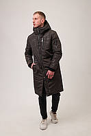 Парку куртка чоловіча зимова тепла довга зелена (хакі) Asos, фото 1