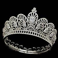 Шикарное украшение для волос, корона, диадема, тиара, под серебро
