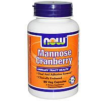 Mannose Cranberry (D-манноза + клюква) 450мг+250мг 90 капс лечение инфекций мочевого пузыря и почек NOW Foods
