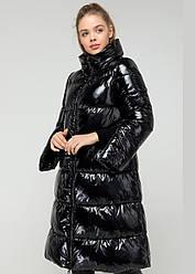Черный пуховик женский Monkler плащека зимний теплый