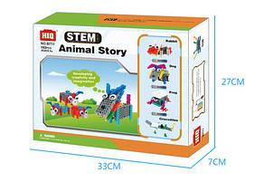 Конструктор электронный детский HIQ B711 12-в-1 173 детали (животные) LYH-B711