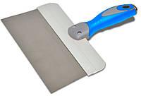Шпатель стальной с нержавеющим покрытием двухкомпонентная ручка 150мм