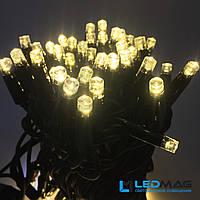 Светодиодная гирлянда String Нить 10м 100LED Каучук PROF Теплый белый 10 мигающих светодиодов