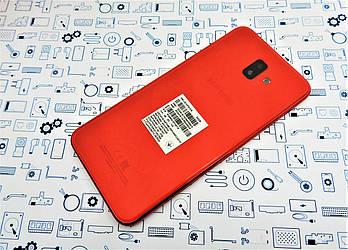 Задняя крышка Samsung J6 Plus 2018 J610F красная Сервисный оригинал с разборки