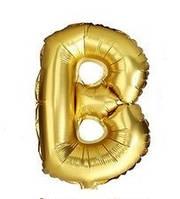 "Золотая буква B 16"""