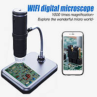 Микроскоп Wi-Fi цифровой электронный 1000Х FullHD для телефона смартфона планшета. Цифровий WiFi мікроскоп GW4