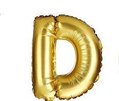 "Золотая буква D 16"""