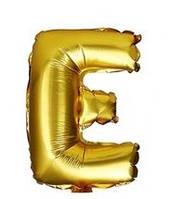 """Золотая буква E 16"""""""