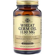 "Масло ростков пшеницы, SOLGAR ""Wheat Germ Oil"" 1130 мг (100 гелевых капсул)"