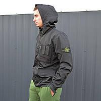 Мужская куртка Stone Island x Supreme Black (реплика), фото 1