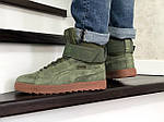 Мужские зимние кроссовки Puma (темно-зеленые), фото 5