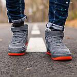 Мужские зимние кроссовки Nike Air Force Winter Grey (серые), фото 2