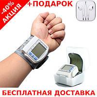 Автоматический тонометр измеритель кровяного давления Blood Pressure Monitor +наушники iPhone 3.5