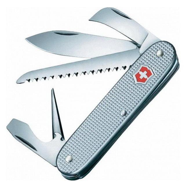 Нож складной, мультитул Victorinox Alox Harvester (93мм, 7 функций), серебристый 0.8150.26