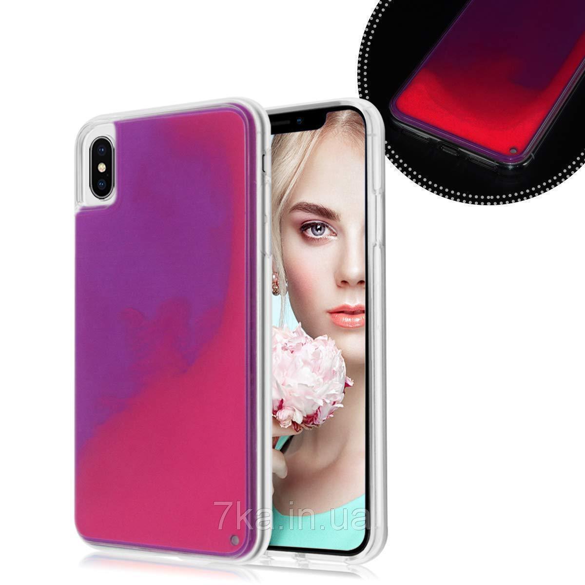 Чехол Neon Sand для Samsung Note 9  Violet Pink