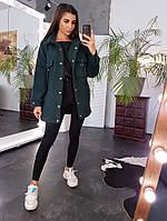 Фактурное пальто на крупных кнопках с карманами, фото 1