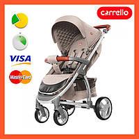 Прогулочная коляска CARRELLO Vista бежевая с дождевиком (CRL-8505 Stone Beige), Карело Виста, книжка