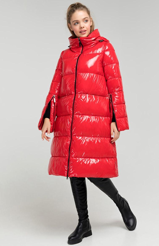 Пуховик женский Monkler плащека зимний теплый, красный