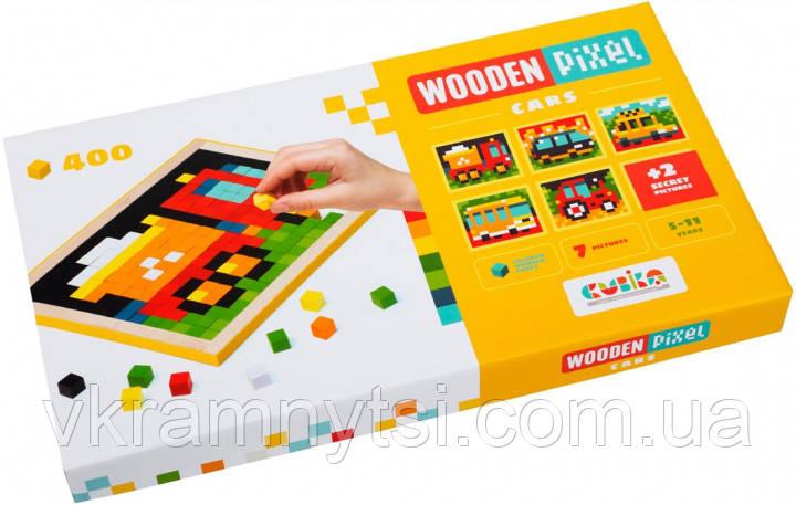 Дерев'яна піксельна мозаїка «Wooden mosaic 4» Cars
