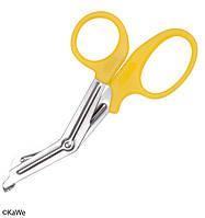 Універсальні ножиці для перев'язок, жовті медичні ножиці, KaWe