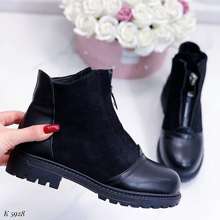 Стильные зимние ботинки женские, фото 2
