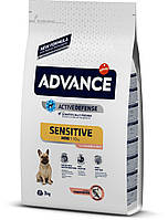 Корм ADVANCE (Эдванс) Dog Mini Sensitive для собак мини пород с чувствительным пищеварением (лосось+рис), 3 кг