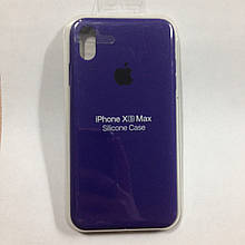 Чехол для iPhone XS Max Silicone Case Ultra Violet