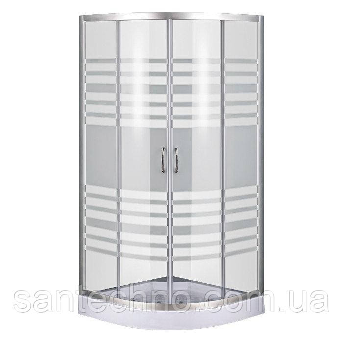 Душевой уголок Sansa S 90/15 профиль сатин/ стекло clear-lines 4 мм