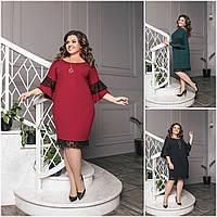 Р-ри 50-60 Ошатне плаття з воланами Батал 20497, фото 1