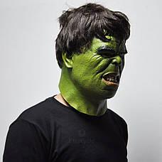 Маска Халк для взрослых, латекс, Мстители Hulk, фото 3