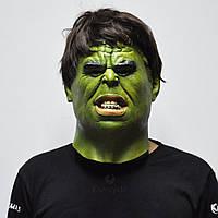 Маска Халк для взрослых, латекс, Мстители Hulk