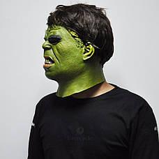 Маска Халк для взрослых, латекс, Мстители Hulk, фото 2