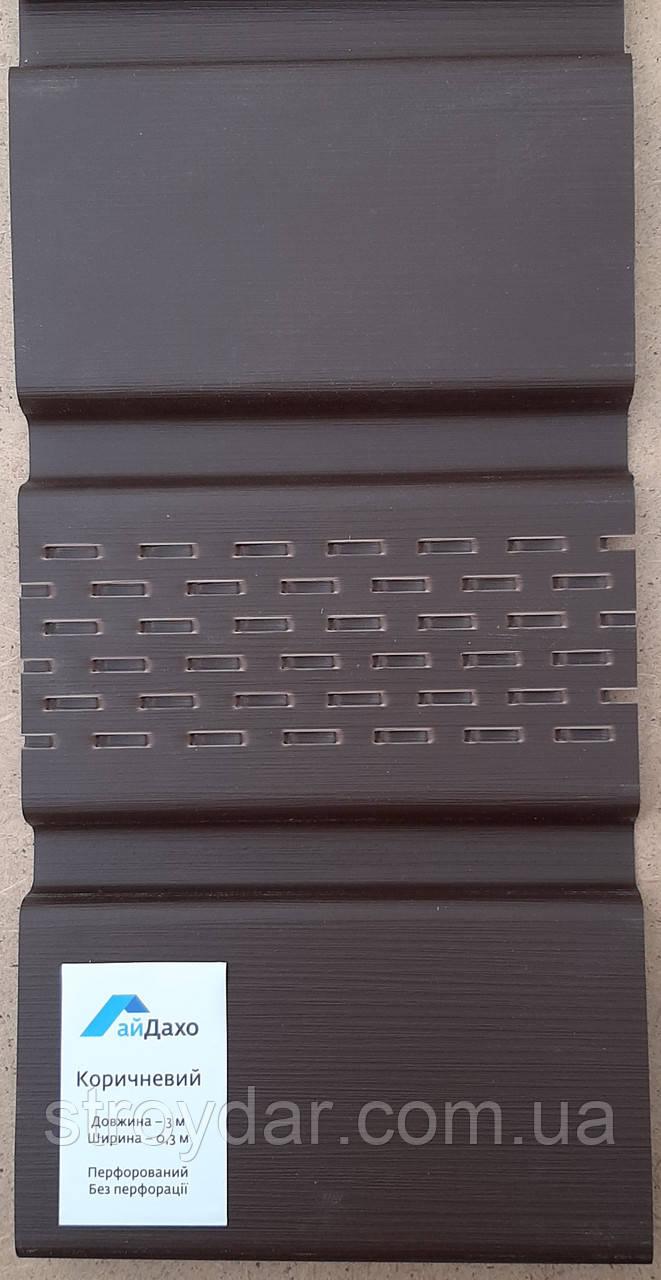 Карнизная подшива софит АйДахо коричневый