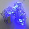 Гирлянда Сетка, 120 led, голубая, прозрачный провод, 1.6х1.6м., фото 4