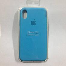 Чехол для iPhone X Silicone Royal Blue