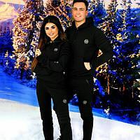 Женский спортивный  костюм  PHILIPP PLEIN черный теплый трехнитка  цена за один костюм