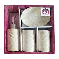 Набор аксессуаров для ванной комнаты 4 пр Дуб SNT 888-06-025